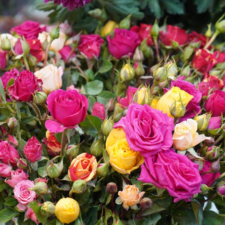 Ассорти розы в букете